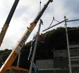 Cranes on Zealandia project