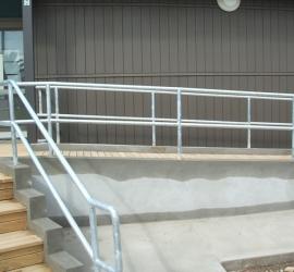 Wheelchair access handrail two