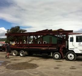 Crane hire truck two